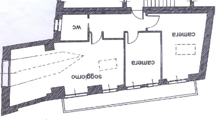 trilocale mansardato Bardonecchia floorplan 1