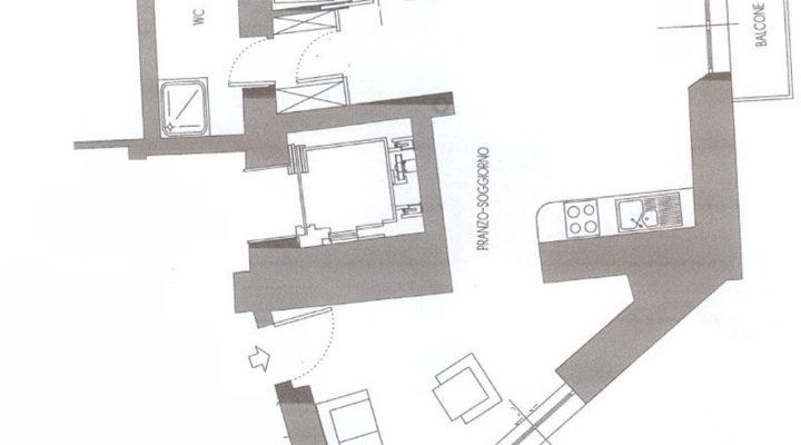 trilocale soleggiato Borgo Vecchio floorplan 1