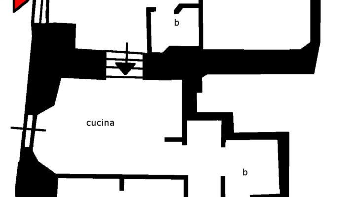 Appartamento con tavernetta e studio floorplan 1