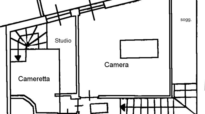 Trilocale in baita nel Borgo Vecchio floorplan 2